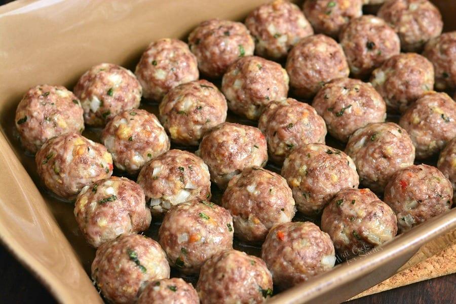 beef and pork meatballs
